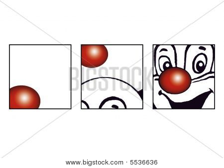 The dancing Red nose of a lucky clown poster