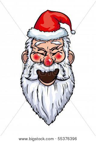 Santa Claus Laughing Head
