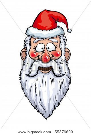 Santa Claus Smiling Head