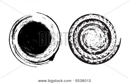 Grunge Circle Brushes