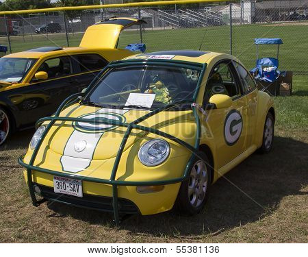 2002 Green Bay Packers Vw Beetle Side View