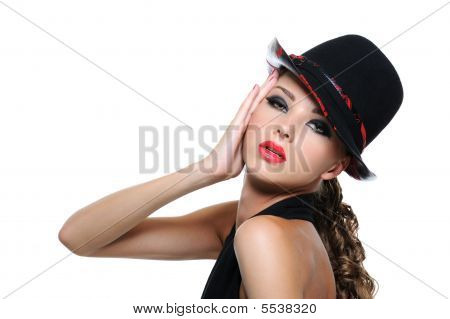 Spectacular woman with bright make-up