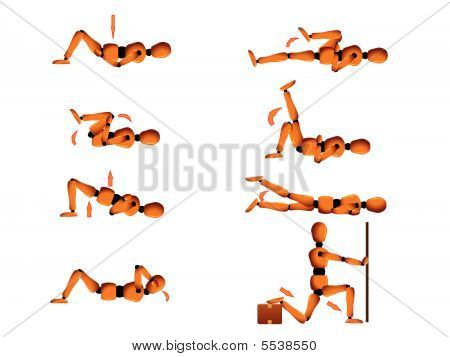 Gym Posture And Stretching Instruction