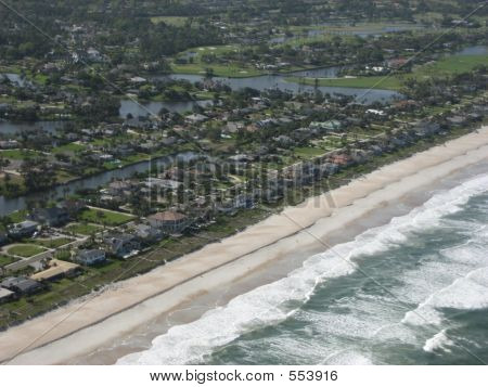 Aerial Of Beach Neighborhood