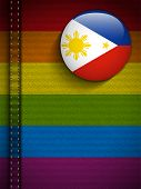 Vector - Gay Flag Button on Jeans Fabric Texture Philippines poster