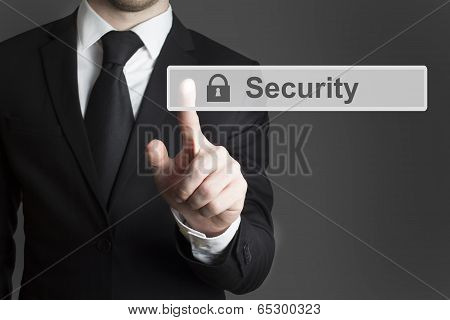 touchscreen security businessman