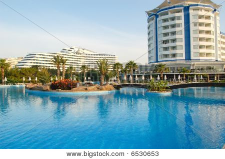 Vacation In Popular Mediterranean Turkish Hotel, Antalya, Turkey