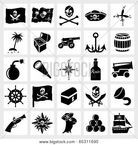 Vector icon set piracy