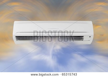 Technology of air circulation of air conditioner machine. poster