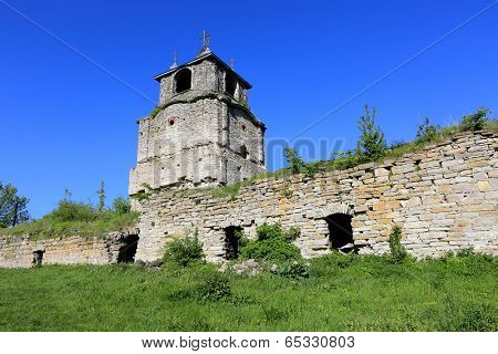 Ruins of old monastery, take in Sataniv town, Ukraine
