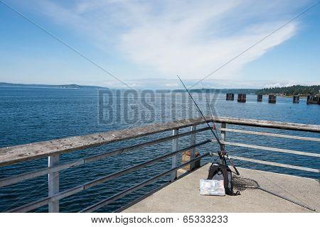 Fishing Gear on Pier