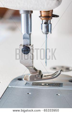 Closeup Of Sewing Machine.