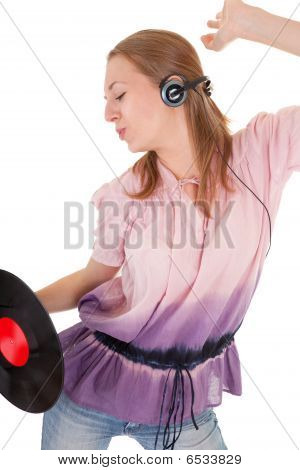 Young Girl With A Headphones