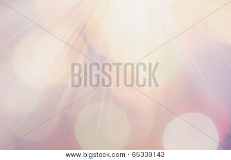 Abstract Natural Blur De Focussed Background With Ray Lights, Sparkles, Fine Art, Soft Focus, Greeti