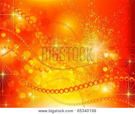 Abstract Red Yellow  Background