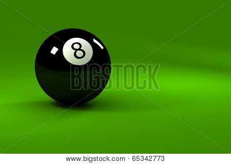 Eight ball - closeup on eightball with light reflections