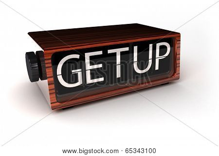 Get Up - concept image of vintage clock showing you to get up