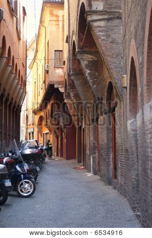 Medieval Street In Bologna