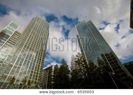 Skylines of finansal center - Canary Wharf London UK poster