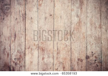 Retro Of Wood Plank Background