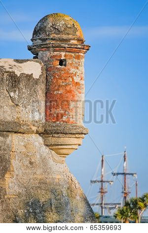 Fort With Sailing Ship