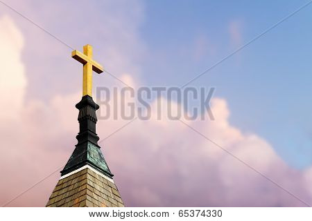 Cross On Steeple