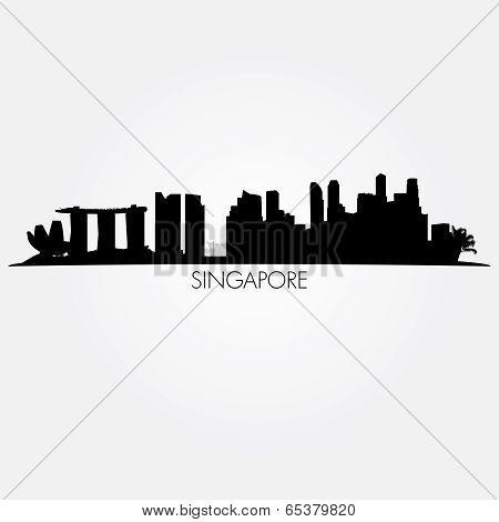 Singapore vector skyline
