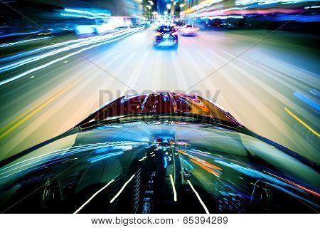 Nightly City Traffic