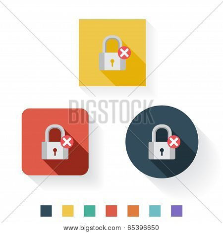 Unprotected Flat Icon Design