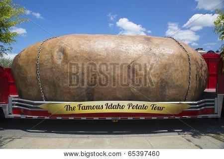 The World's Largest Potato on Wheels presented during The Famous Idaho Potato Tour