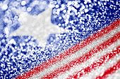 An abstract and patriotic American Flag background poster