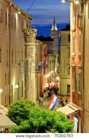 Colorful Historic Street Of Zadar