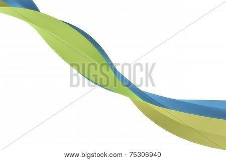 Elegant Blue Green Ribbon Background