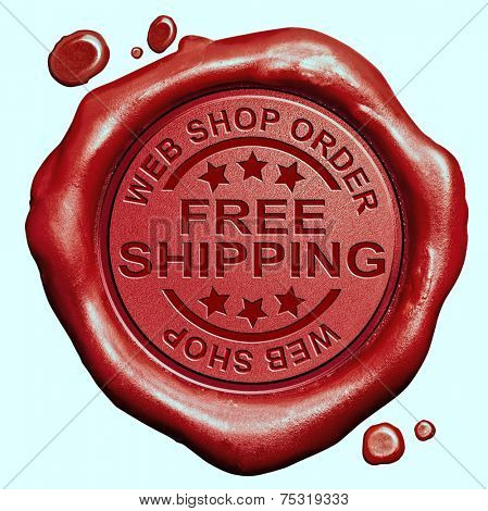 free shipping web shop online order delivery red wax seal stamp button