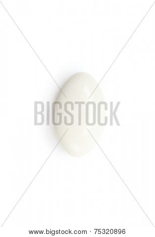 White pilule, isolated on white. Healthcare concept.