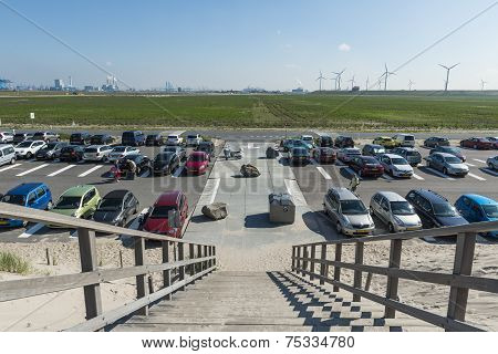 Parking Beach Maasvlakte Rotterdam
