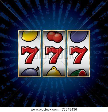 vector jackpot triple sevens at slot machine