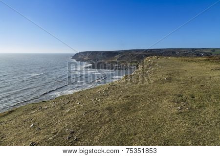 View West From Port Eynon, Gower Peninsula.