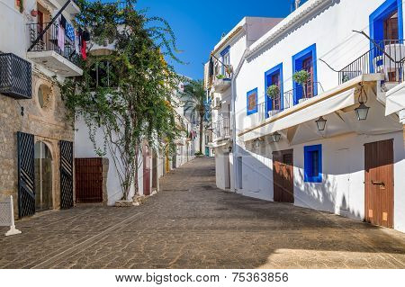 White houses at Ibiza street