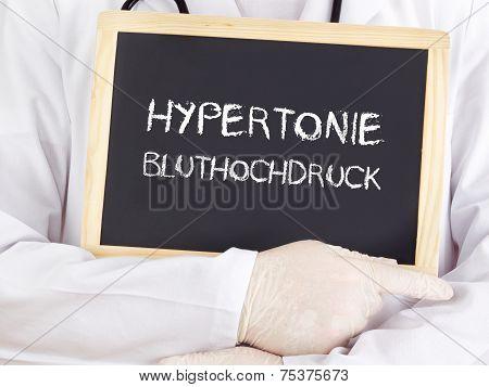 Doctor Shows Information: Hypertension High Blood Pressure