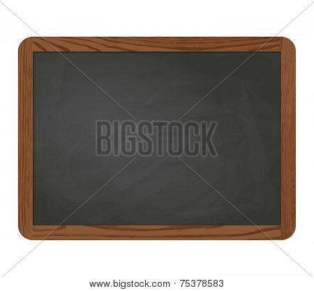 Slate Blackboard Gray With Wooden Frame