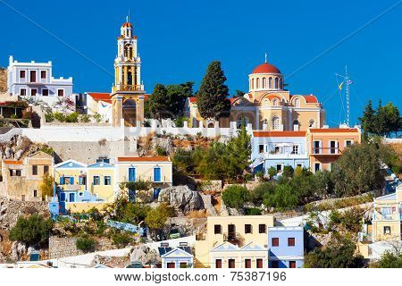 Buildings At Symi Greece