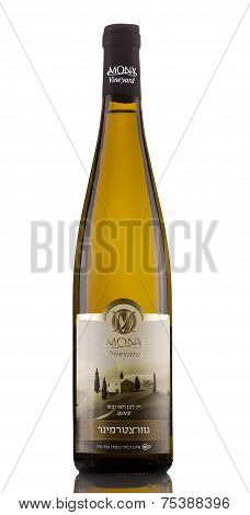 One Bottle Of Semi-dry Wine Mony Gewurztraminer 2012