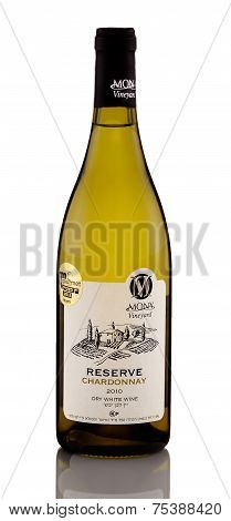 One Bottle Of Dry White Wine Mony Reserve Chardonnay 2010