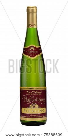 One Bottle Of White Dry Wine Pfaffenheim Riesling 2010