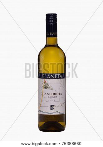 One Bottle Of Dry White Wine Planeta La Segreta Bianco 2011