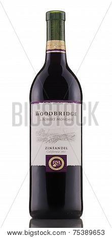 One Bottle Of Red Dry Wine Woodbridge Zinfandel California 2011