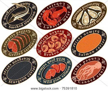 Label seafood