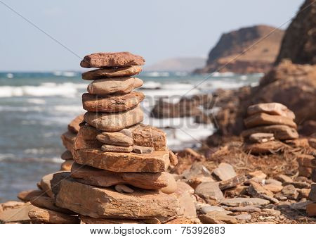 Pile Of Stones In Pregonda Beach