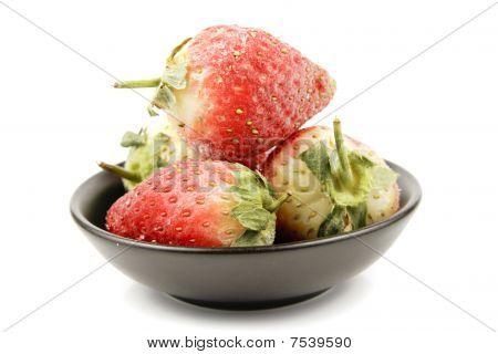 Frozen Strawberries In A Bowl